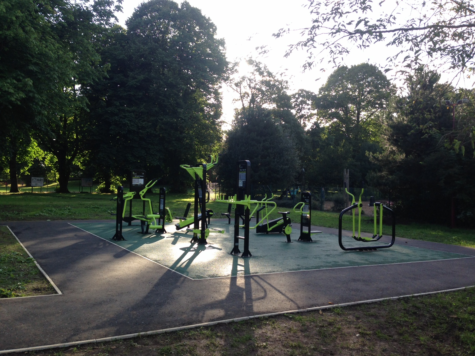 Outdoor Gym in the Peoples Park Ballymena