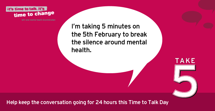 Time to Talk Day – Encouraging Ballymena to talk about Mental Health