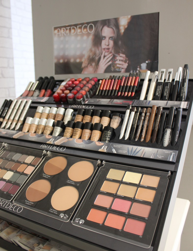 Ballymena beauticians Willow Beauty makeup display