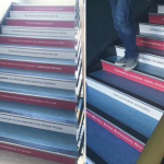 Ballyprint transform stairwells in Cullybackey College