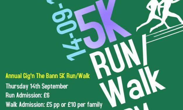 Gig n the Bann – 5km Run / Fun Walk