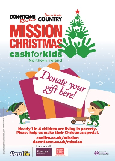 Cash For Kids Appeal Drop Off Point in Ballymena Town Centre