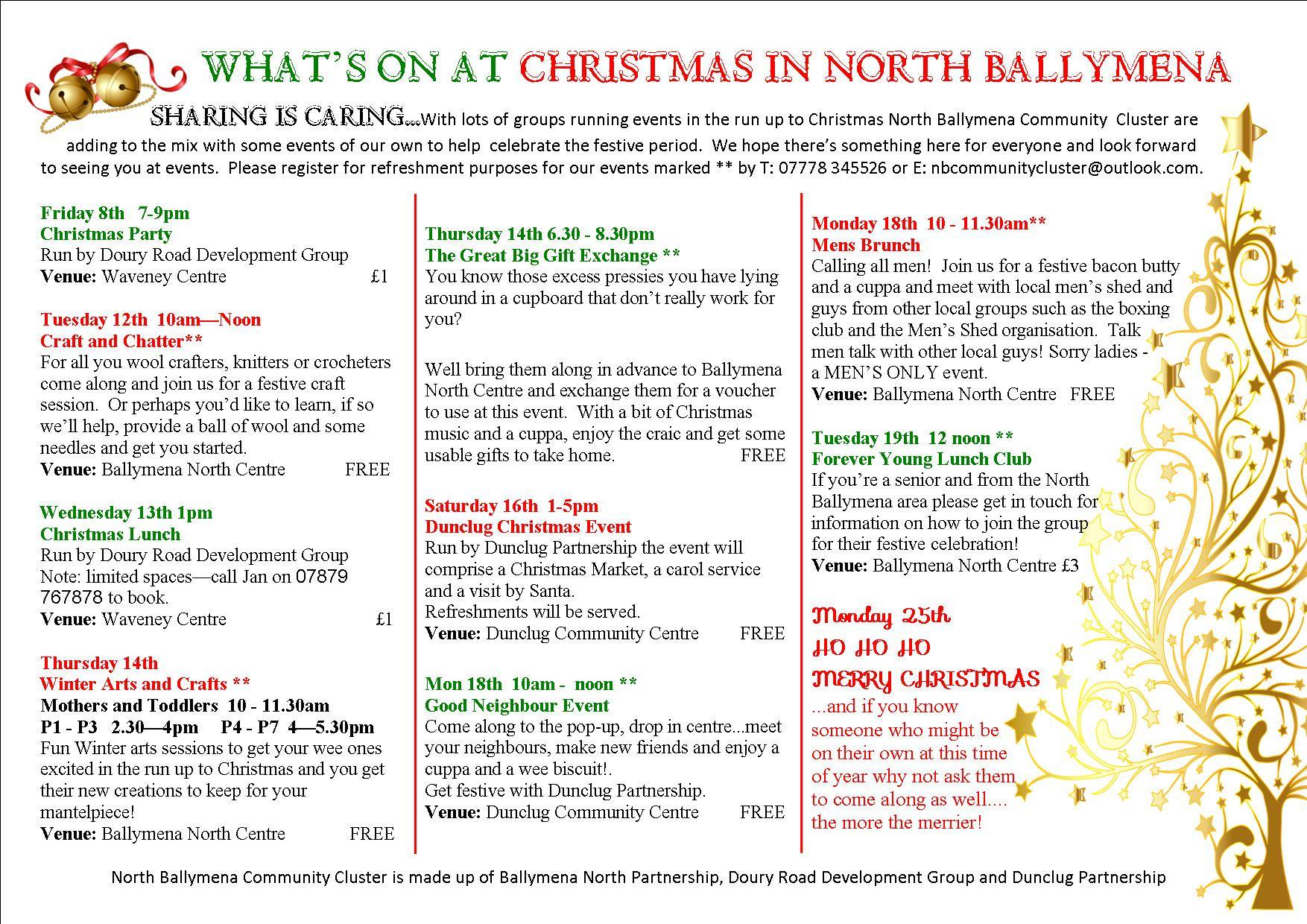 Christmas with North Ballymena Community Cluster – Ballymena Today