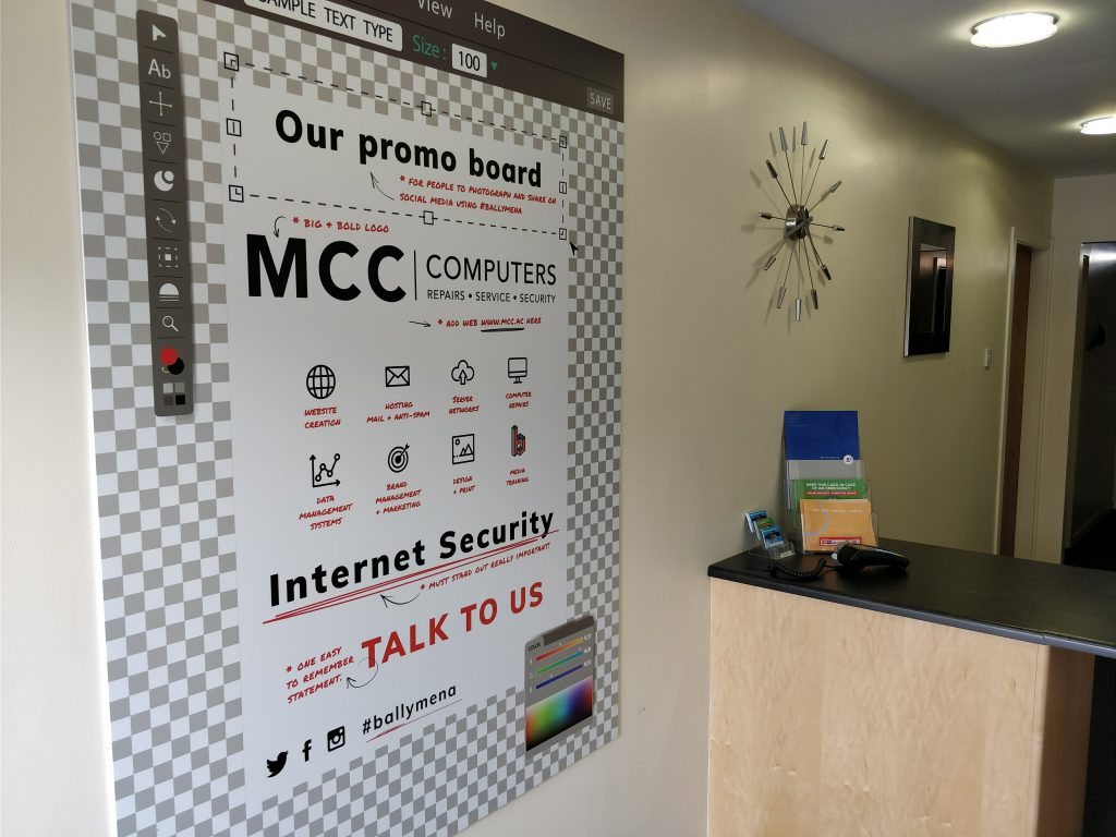 The New Promo Board at MCC Computers