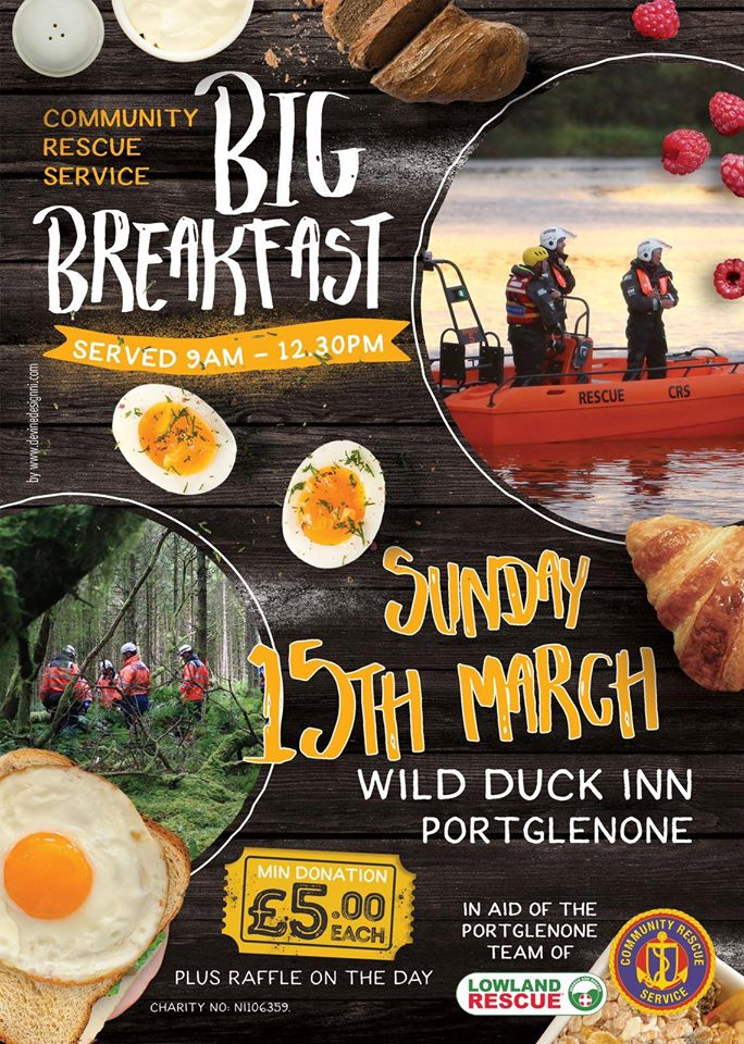 CRS Big Breakfast - Wild Duck Inn Portglenone